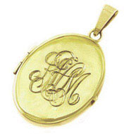 Hand Engraved Monogram Locket