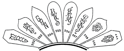 Monogram styles for hand engraved silverware